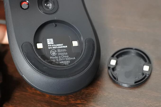 G703hの重さは95gだけどウエイトで調整可3