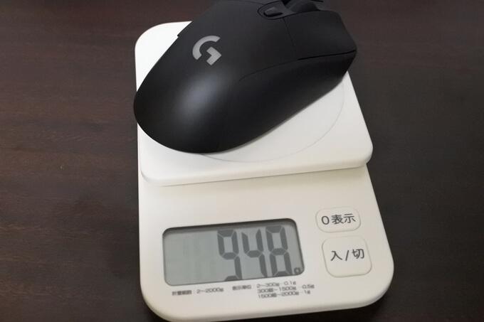G703hの重さは95gだけどウエイトで調整可5