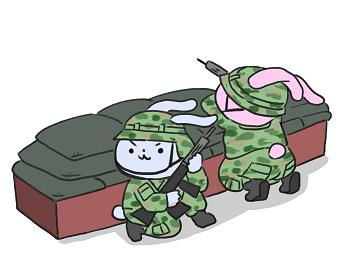 ウサギの兵隊イラスト