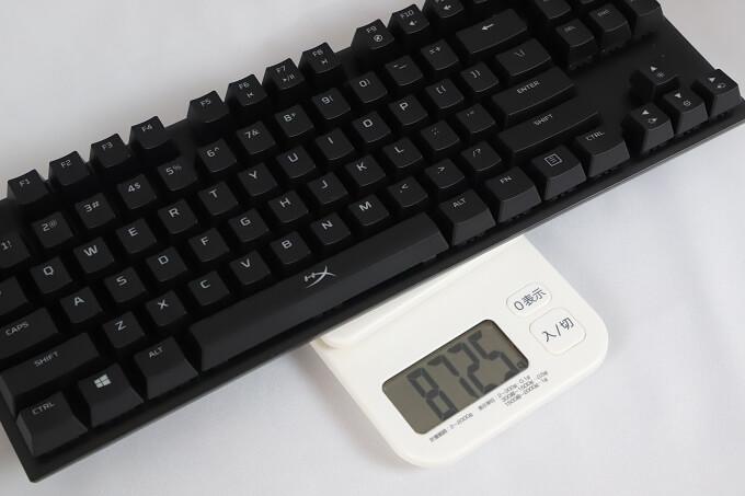 HyperX Alloy FPS Proの重量