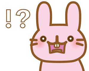 驚くウサギ
