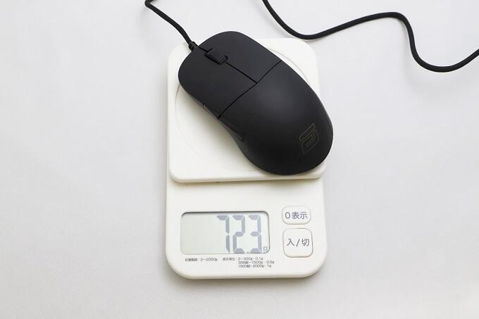 重量の実測値は72.3グラム